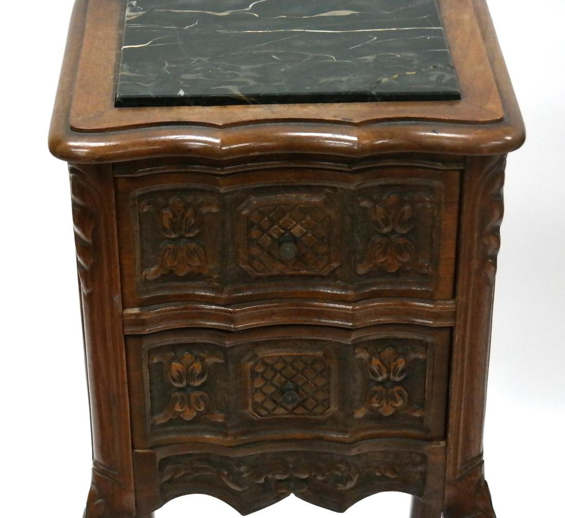 Pair of Belgian-Style Marble Inset Stands - 2