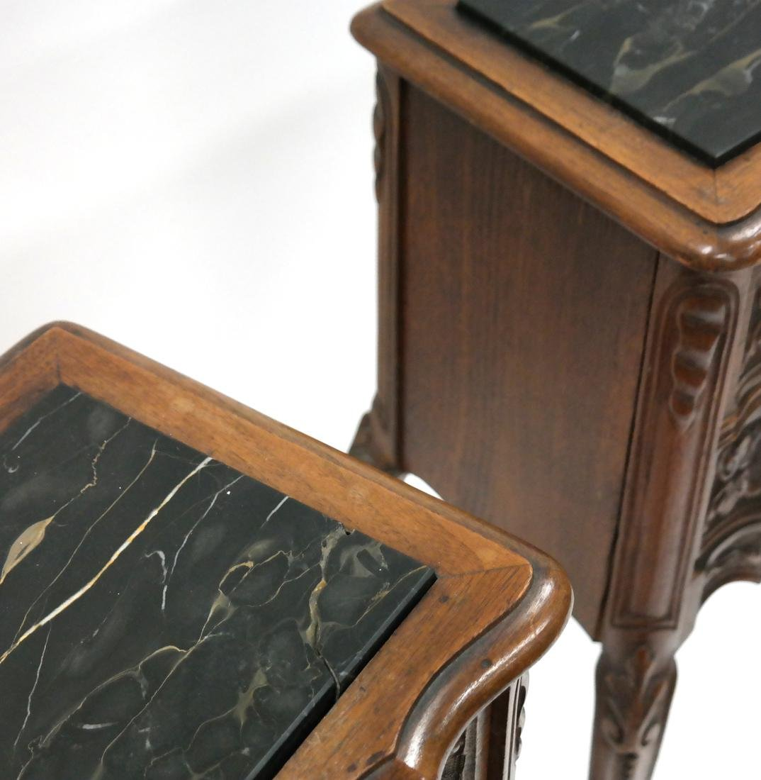 Pair of Belgian-Style Marble Inset Stands - 4