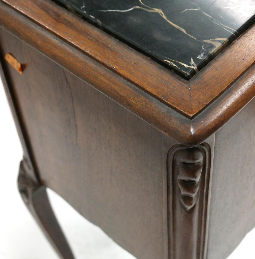 Pair of Belgian-Style Marble Inset Stands - 5