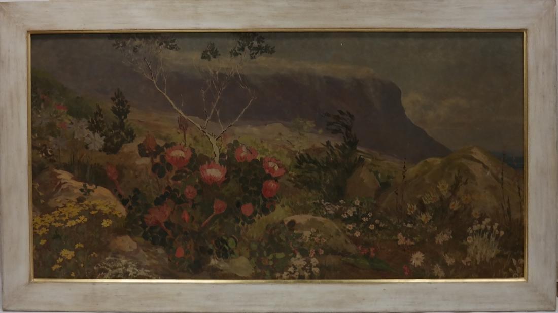 Extensive Mountain Landscape - Oil on Board - 2