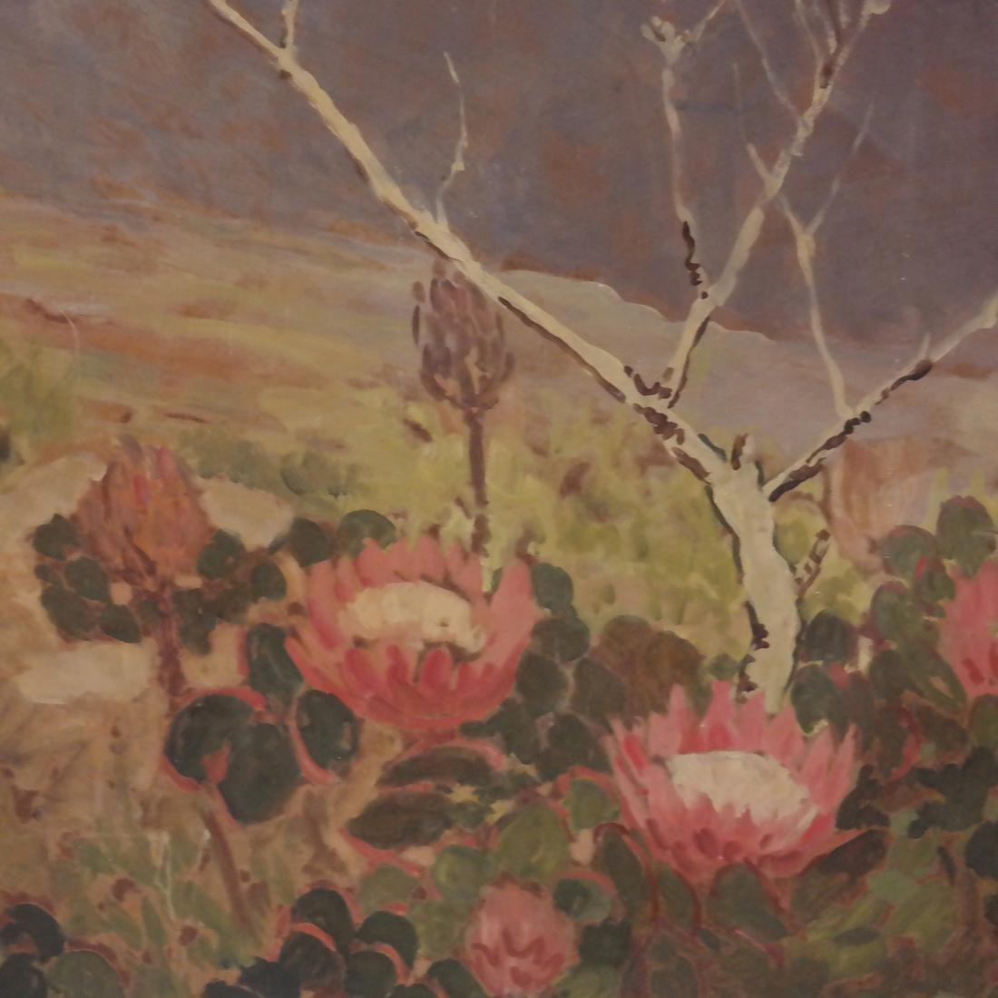 Extensive Mountain Landscape - Oil on Board - 3