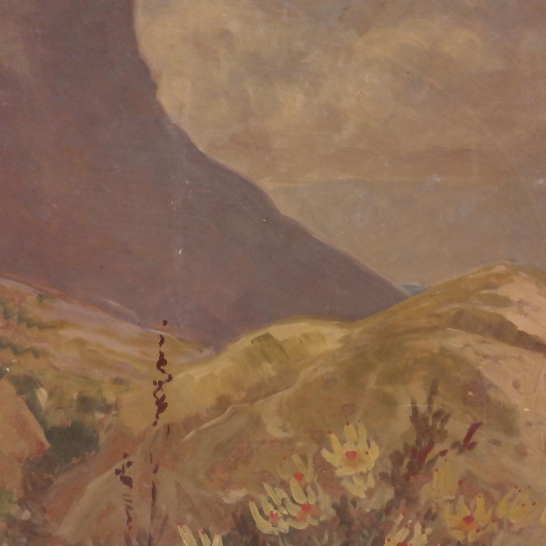 Extensive Mountain Landscape - Oil on Board - 4
