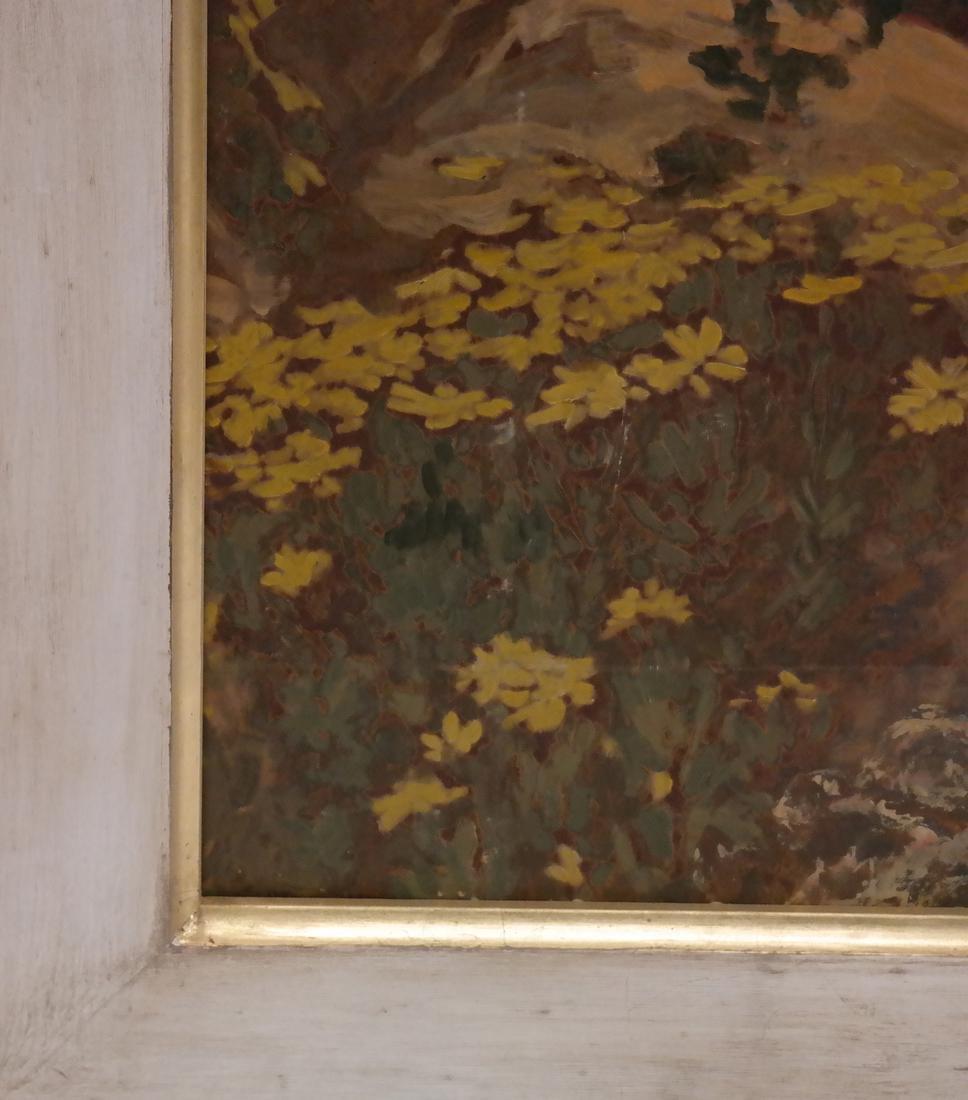 Extensive Mountain Landscape - Oil on Board - 5