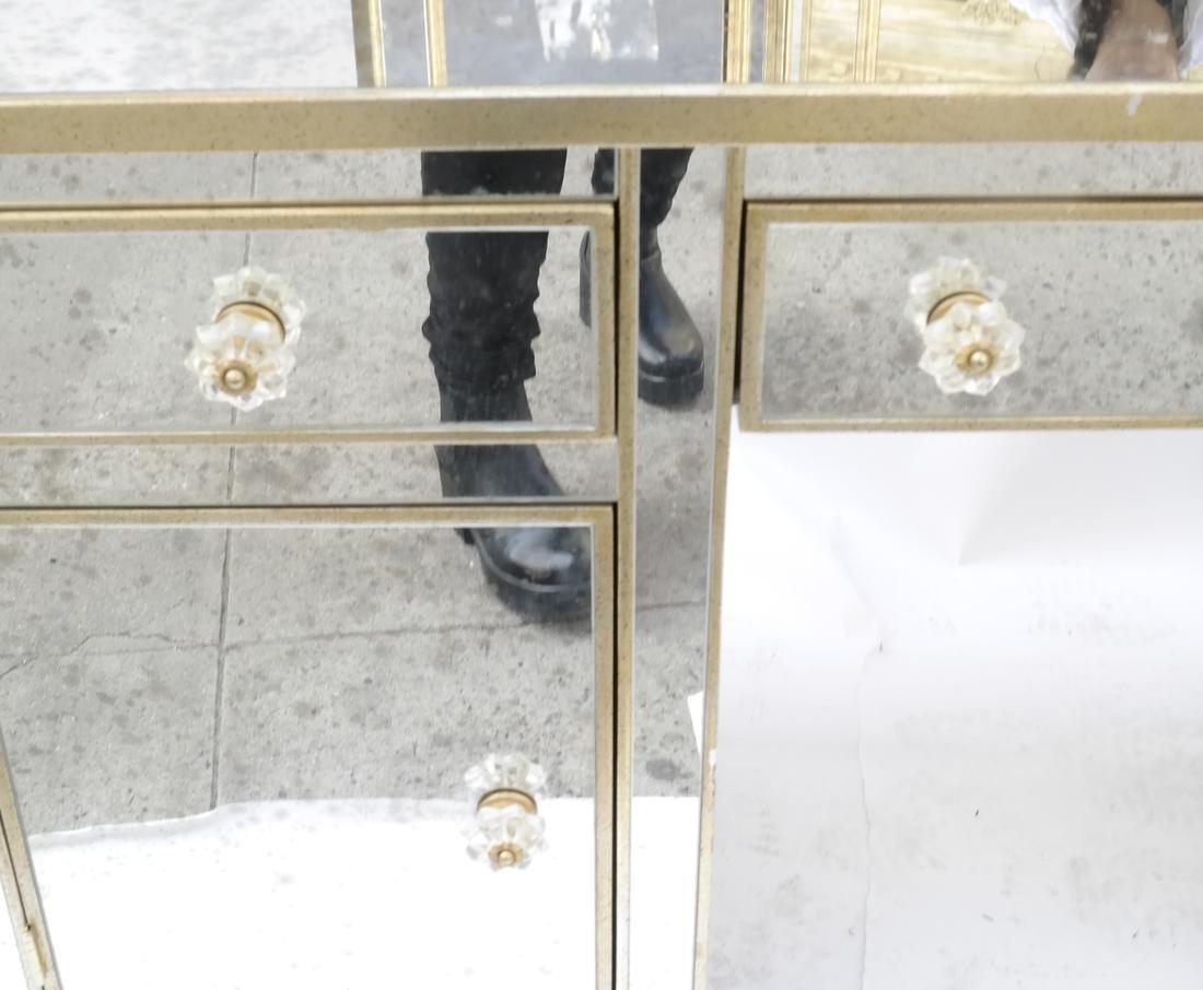 Modern Mirror Vanity with Triptych - 5