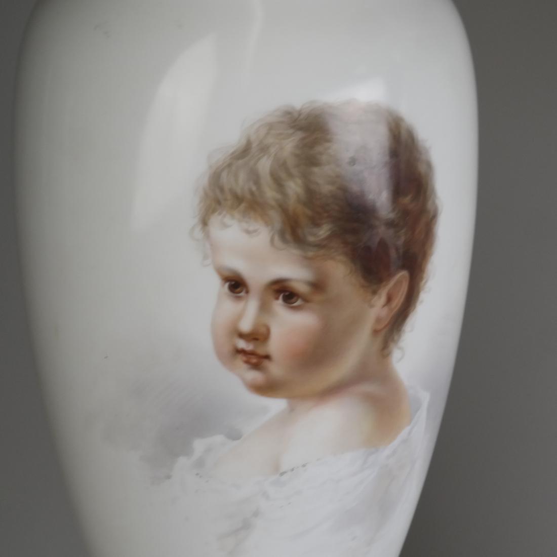 Pair of Opaline Glass Portrait Lamps - 2