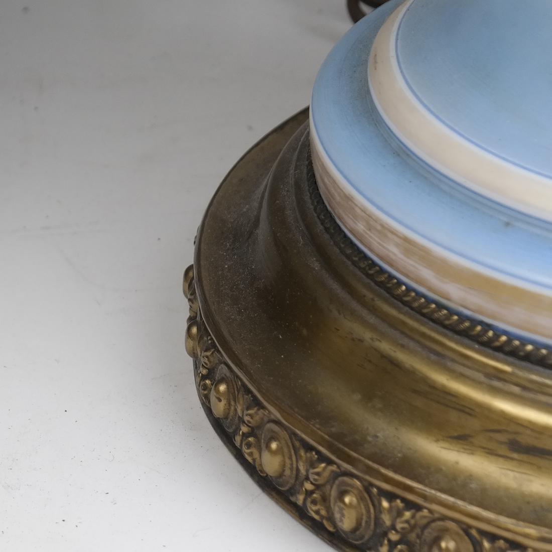Pair of Opaline Glass Portrait Lamps - 4