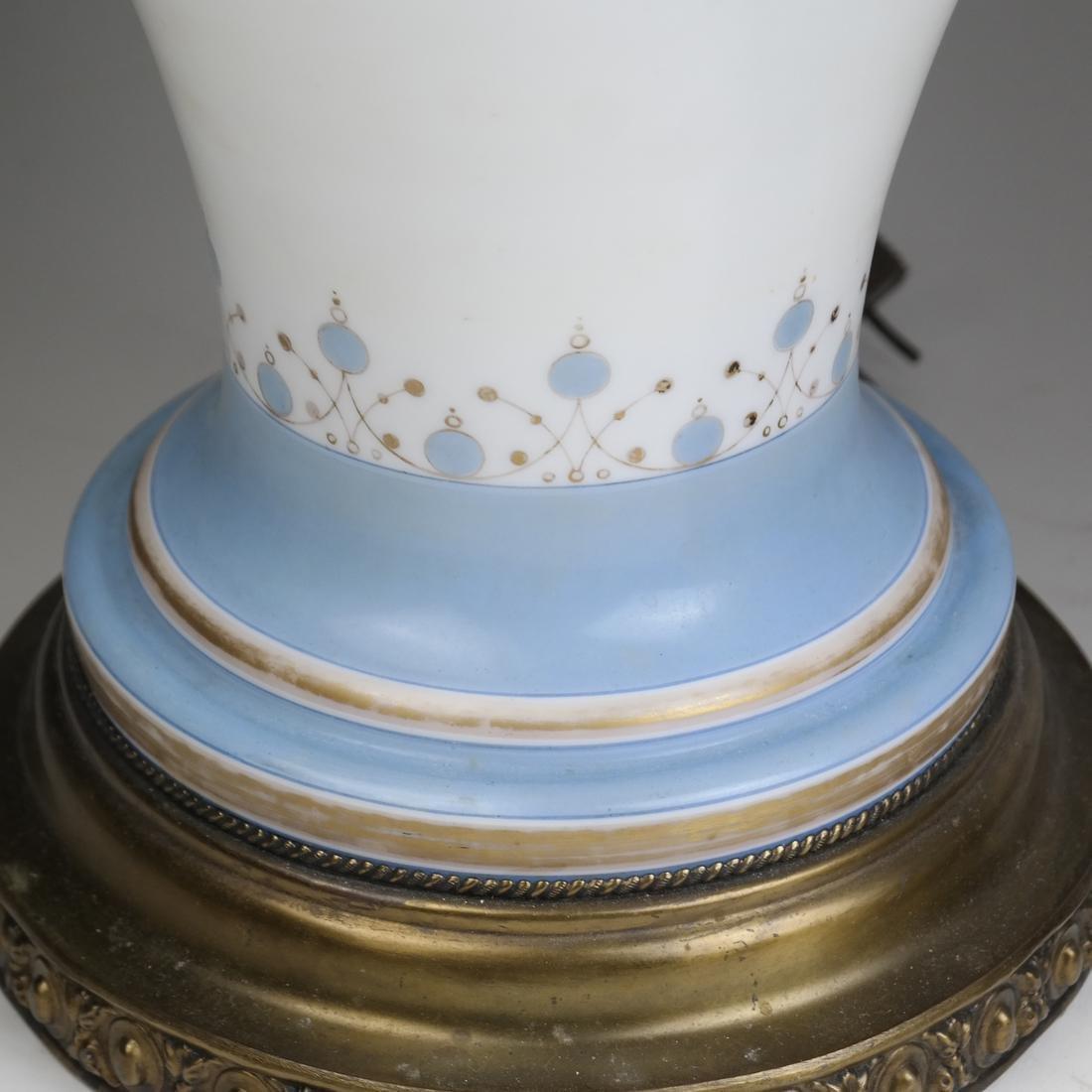 Pair of Opaline Glass Portrait Lamps - 5
