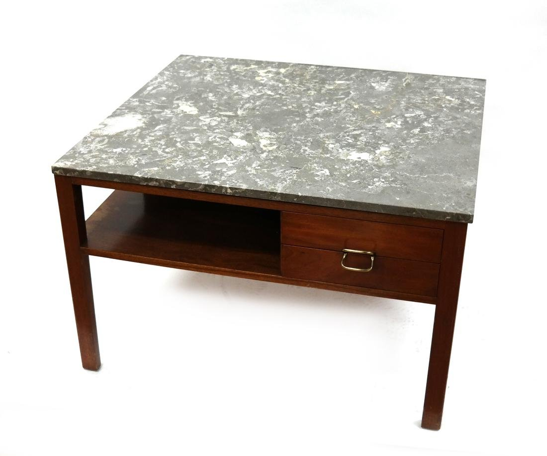 20th Century Modern Marble Top End Table