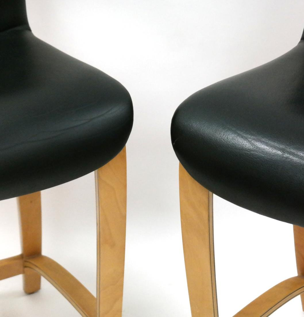 Pair of Modern Maple Stools by Plycraft, MA. - 2
