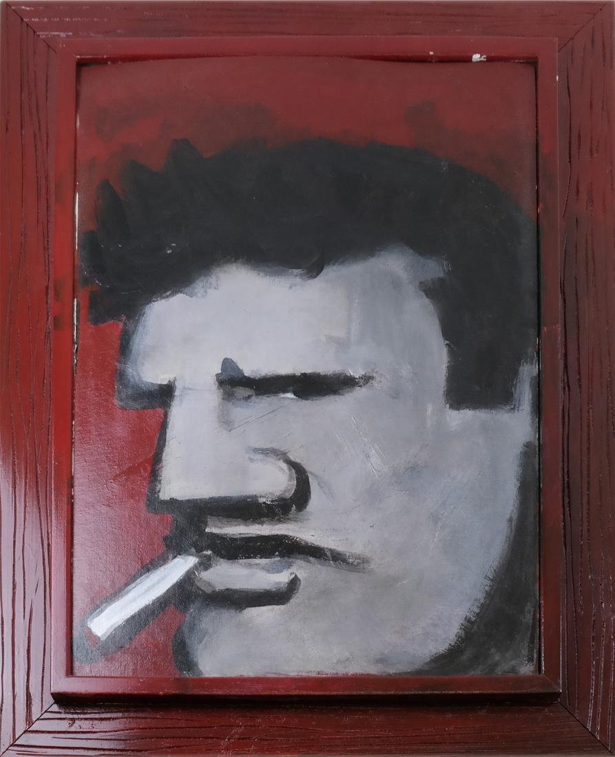 """Robert Laughlin """"The Brute"""" - Oil on Canvas Panel - 2"""