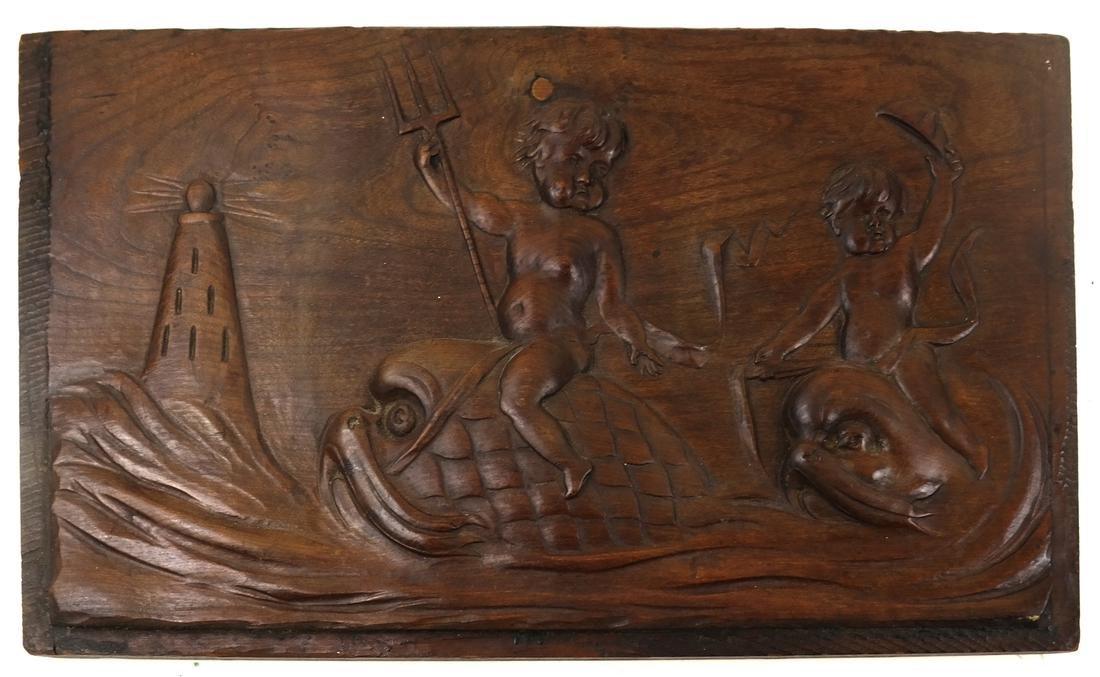 Wood Relief of Cherubs