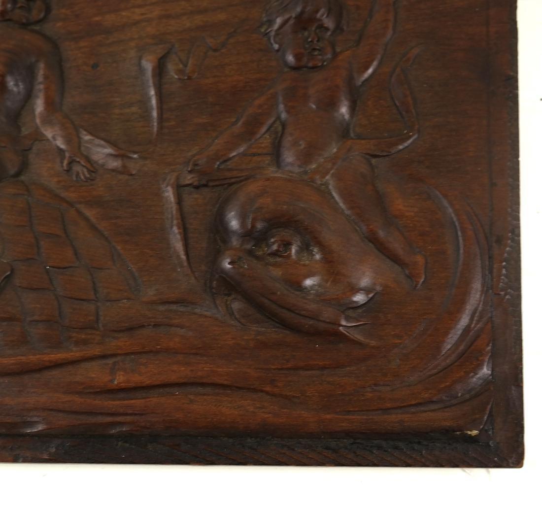 Wood Relief of Cherubs - 3