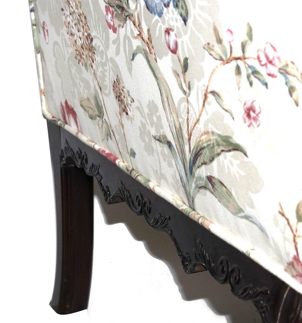 Antique Chippendale-Style Camel Back Sofa - 7