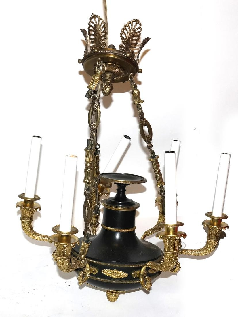 French Empire-Style 6-Light Fixture