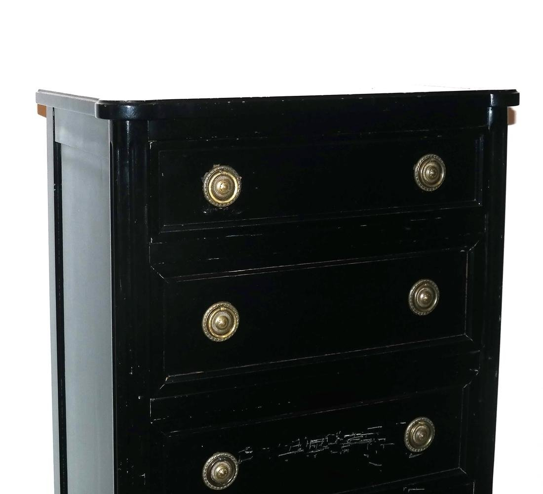 French Black Painted Lingerie Chest by Bodart - 2