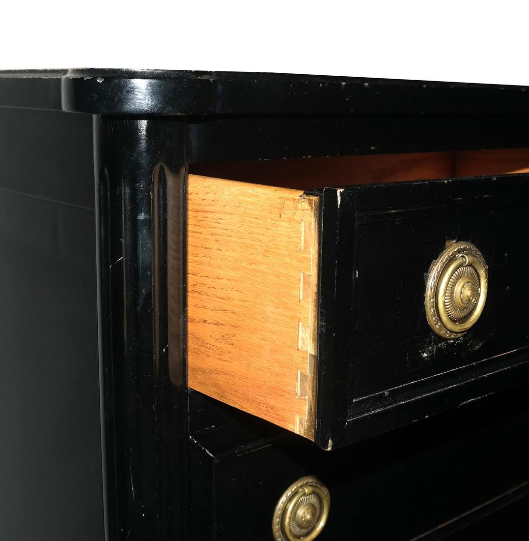 French Black Painted Lingerie Chest by Bodart - 3
