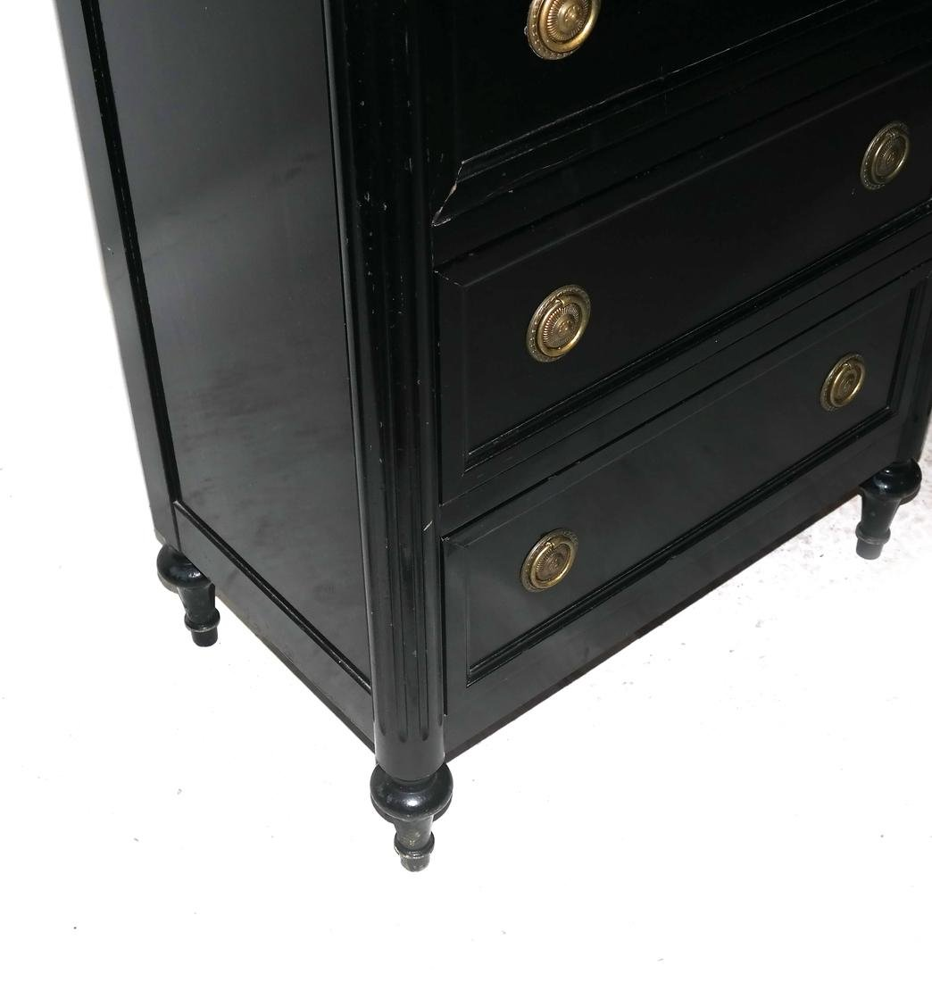 French Black Painted Lingerie Chest by Bodart - 4