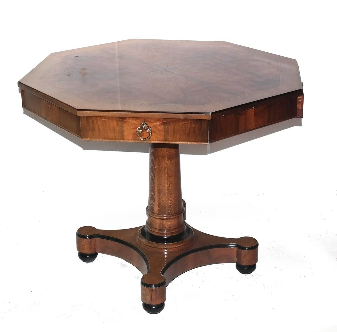 Biedermeier-Style Octagonal Inlaid Center Table