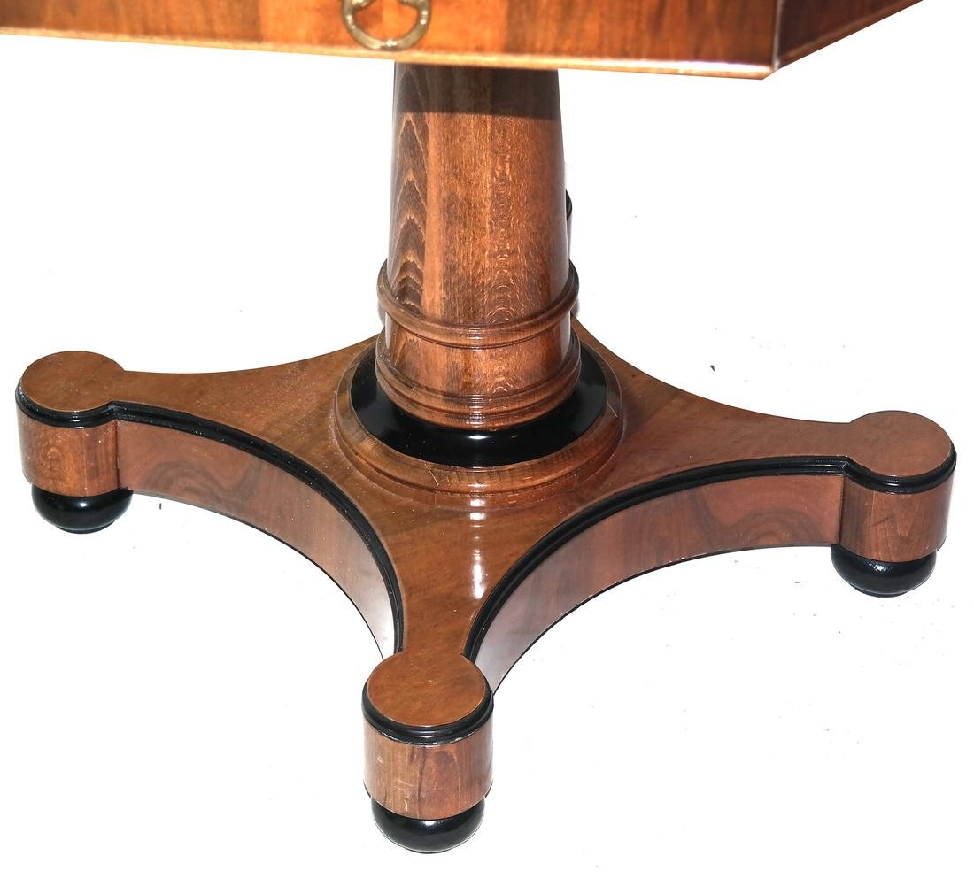 Biedermeier-Style Octagonal Inlaid Center Table - 2