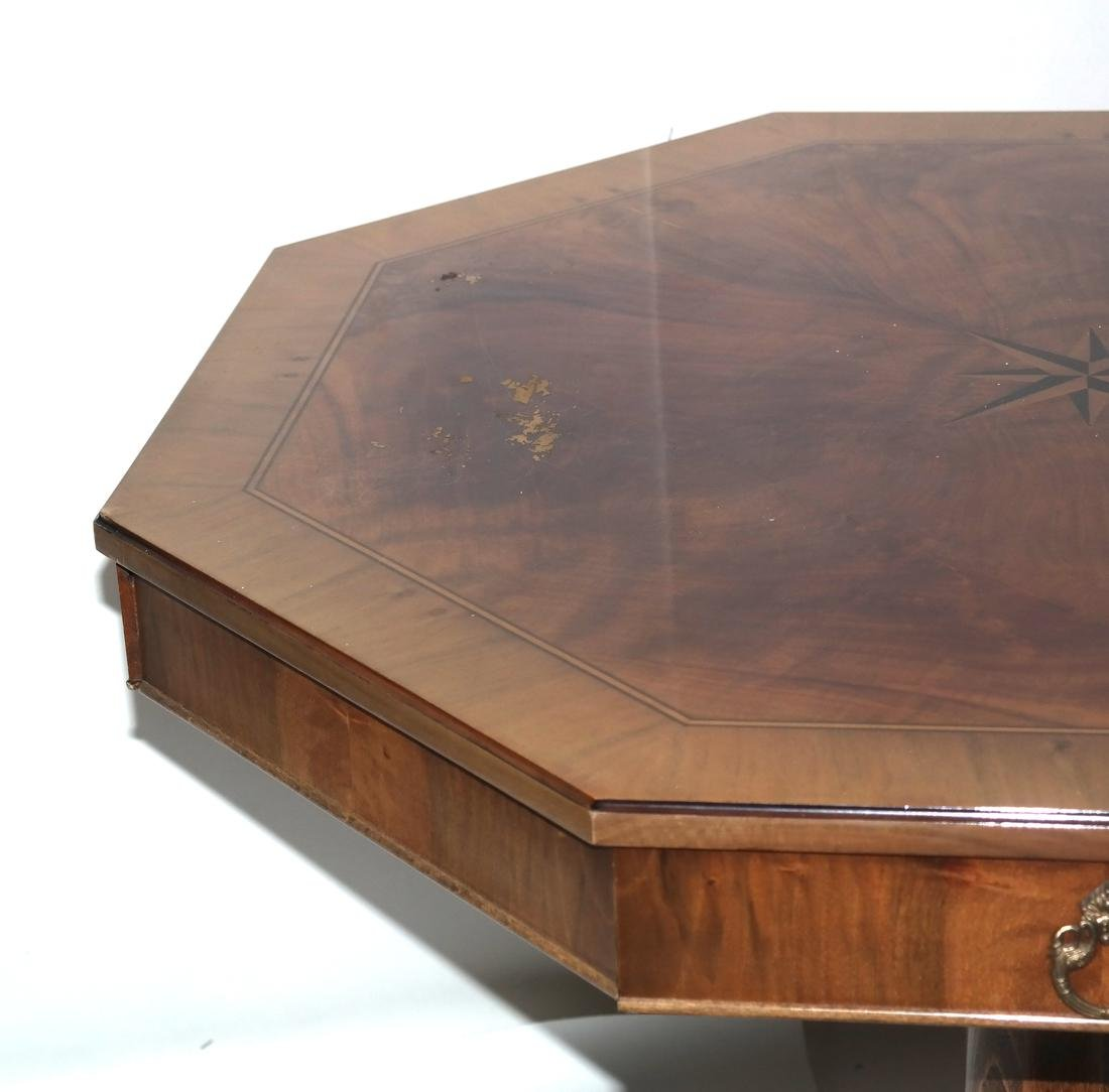 Biedermeier-Style Octagonal Inlaid Center Table - 4