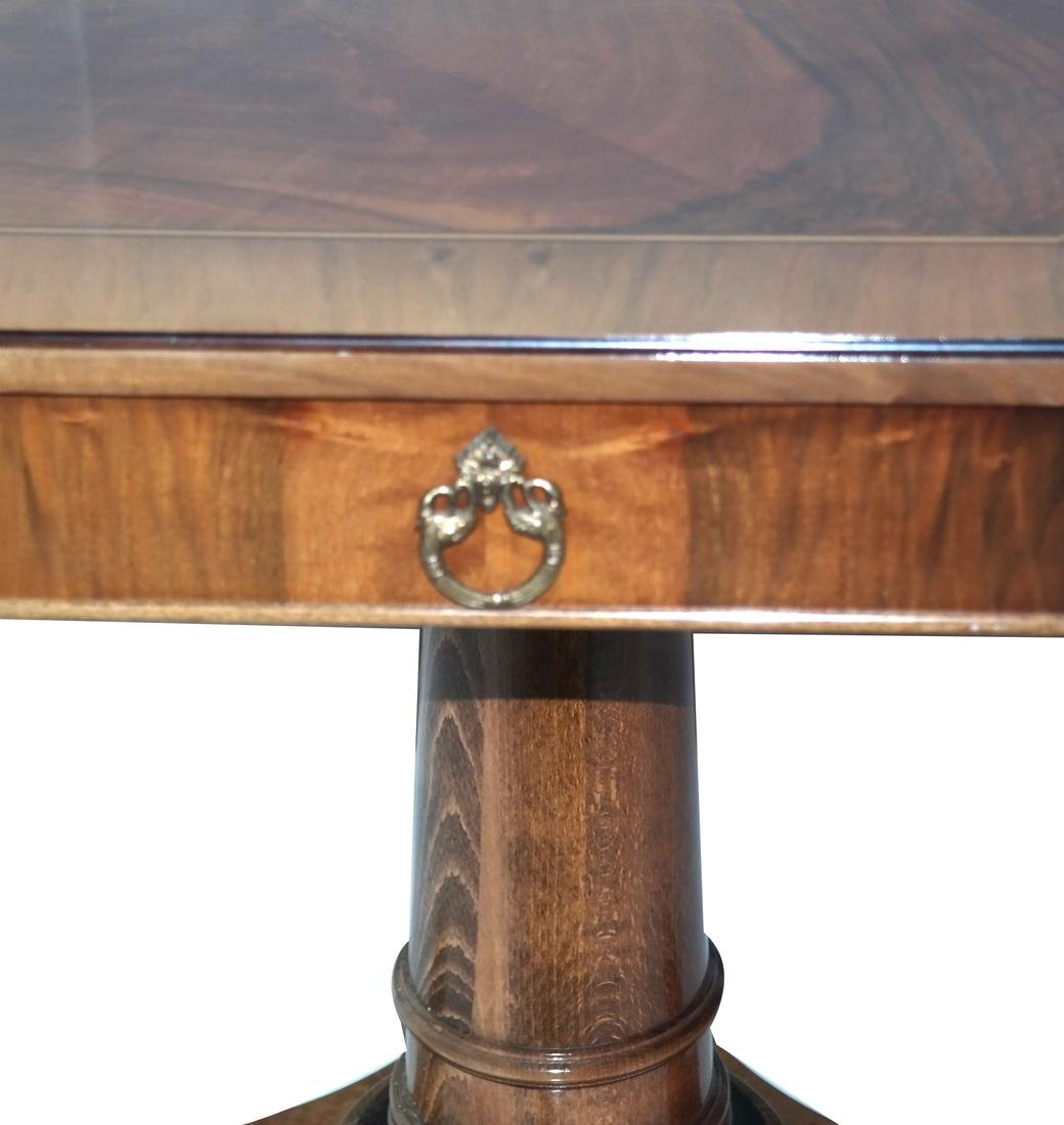 Biedermeier-Style Octagonal Inlaid Center Table - 5