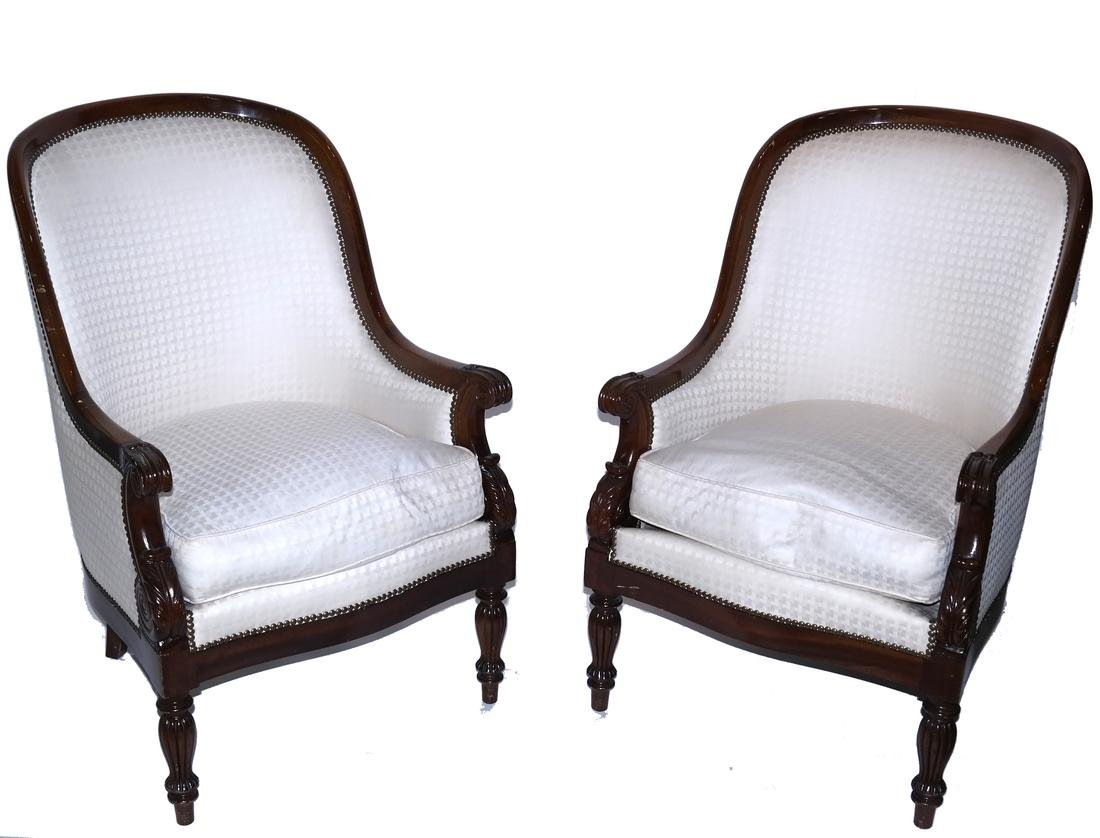 Pair of Regency-Style Scoop Back Chairs