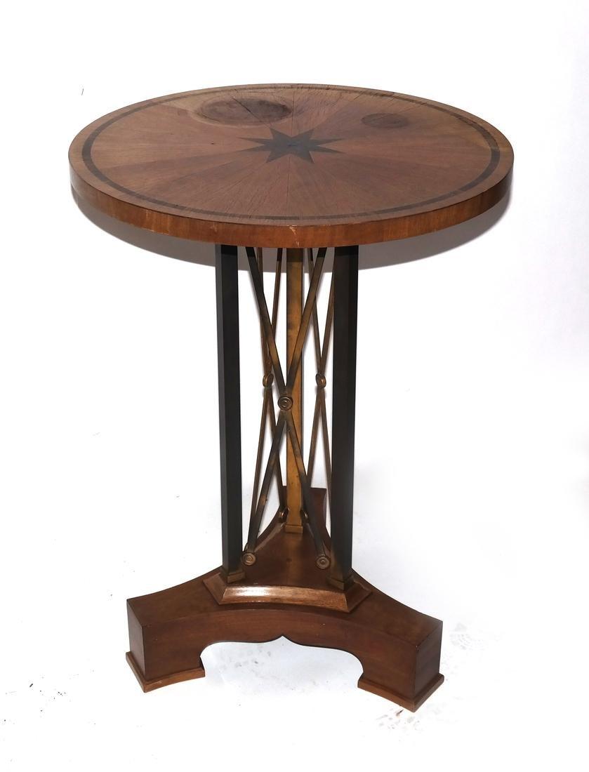 Biedermeier Inlaid Medallion Bouillotte Table