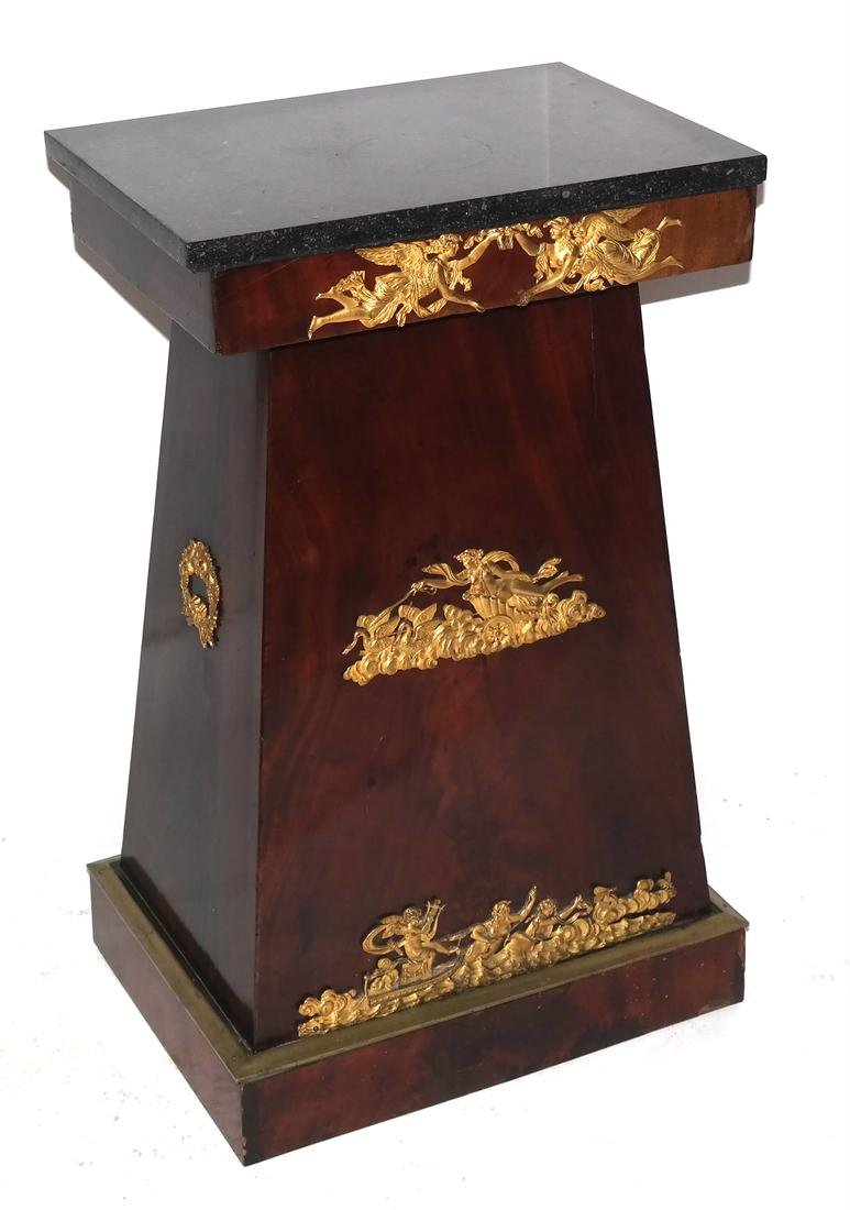 Empire Ormolu Mounted Marble Top Stand