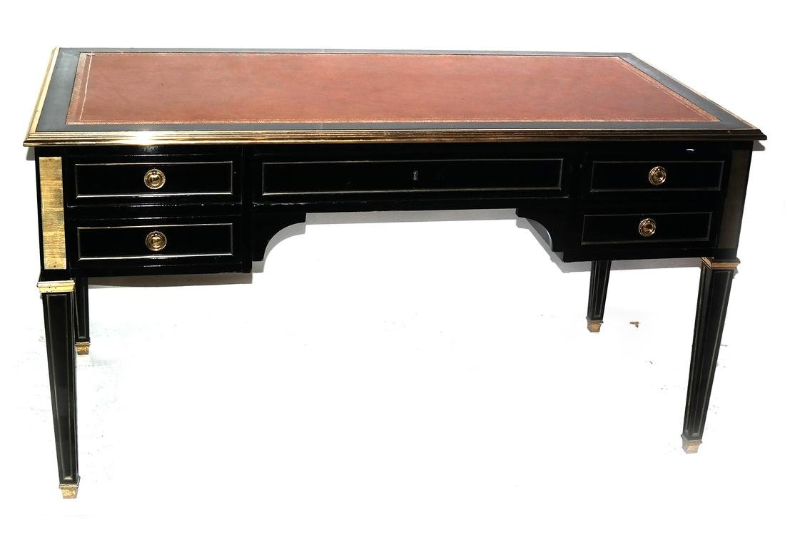French Directoire-Style Leather Top Bureau Plat