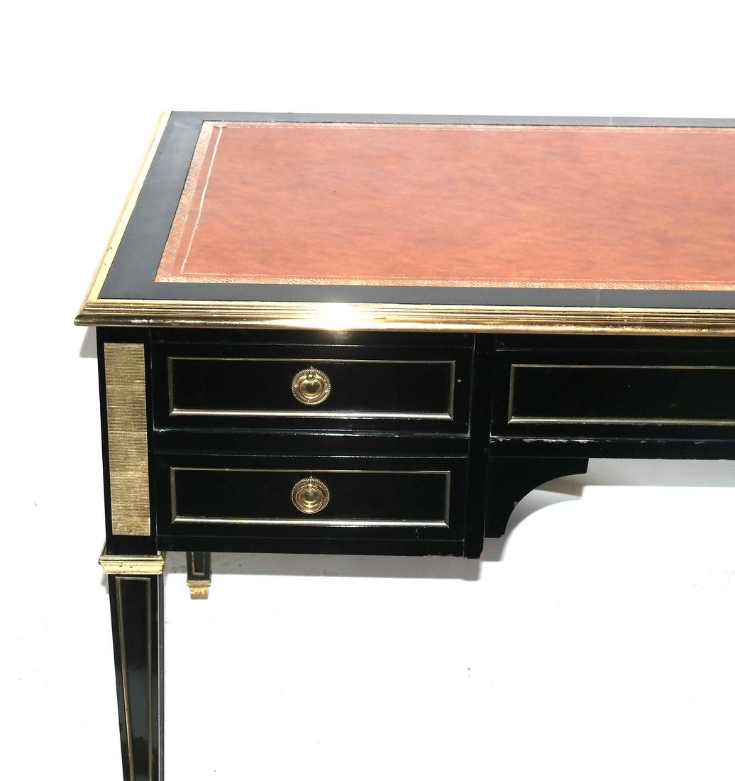 French Directoire-Style Leather Top Bureau Plat - 2