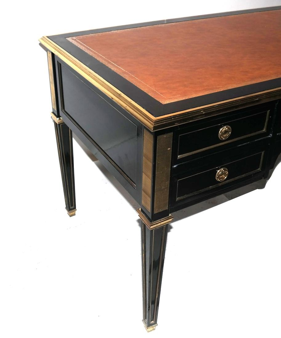 French Directoire-Style Leather Top Bureau Plat - 4