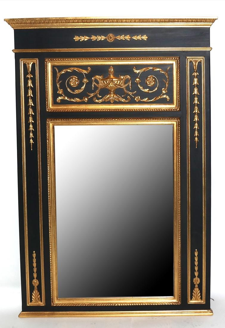 Gilt Decorated and Carved Mirror