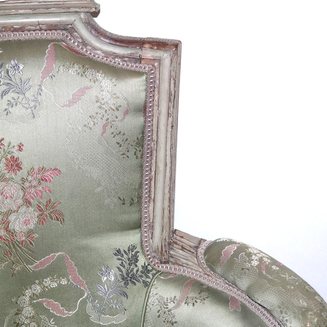 19th Century Continental Painted Bergere - 2