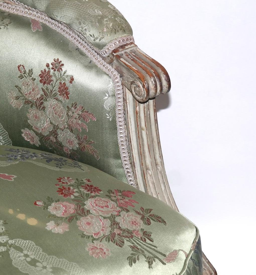 19th Century Continental Painted Bergere - 3