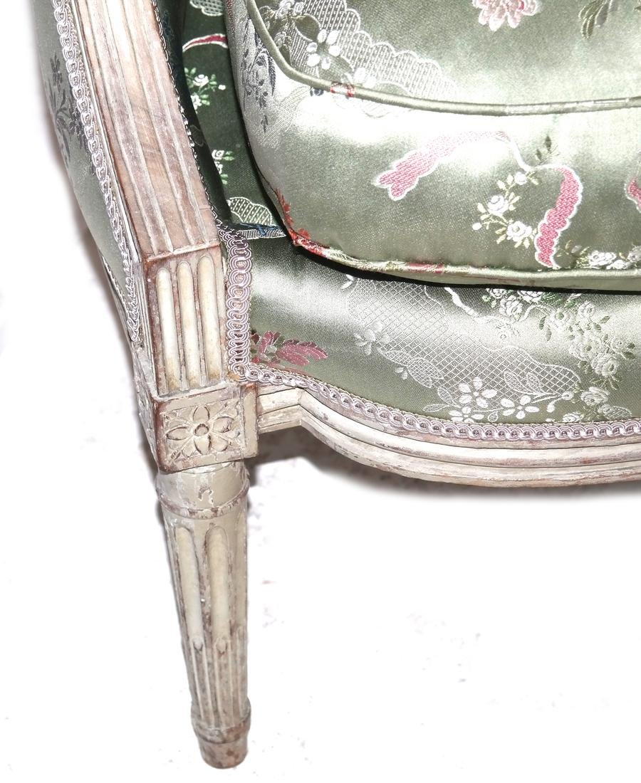 19th Century Continental Painted Bergere - 4