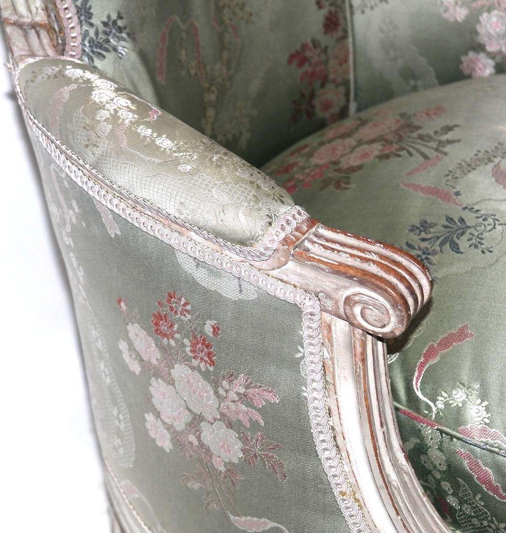 19th Century Continental Painted Bergere - 5