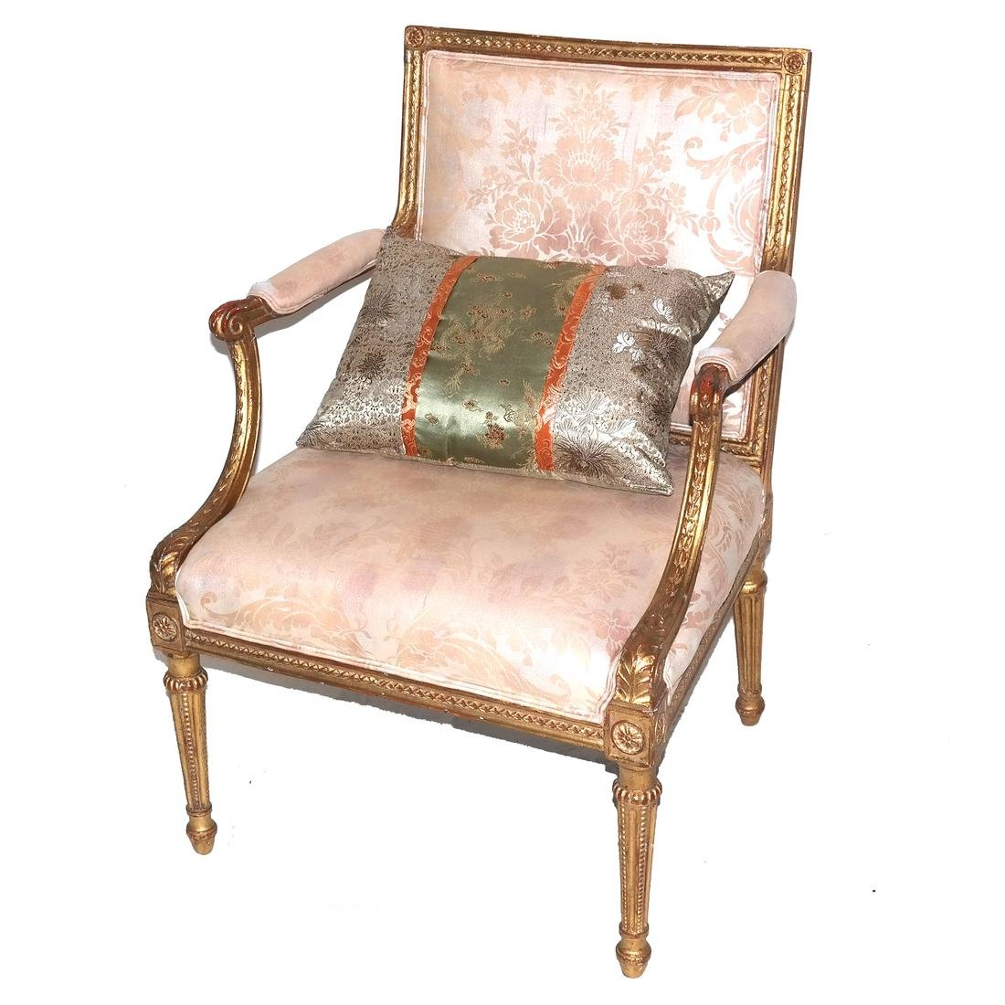 Late 19th Century French Gilt Wood Armchair