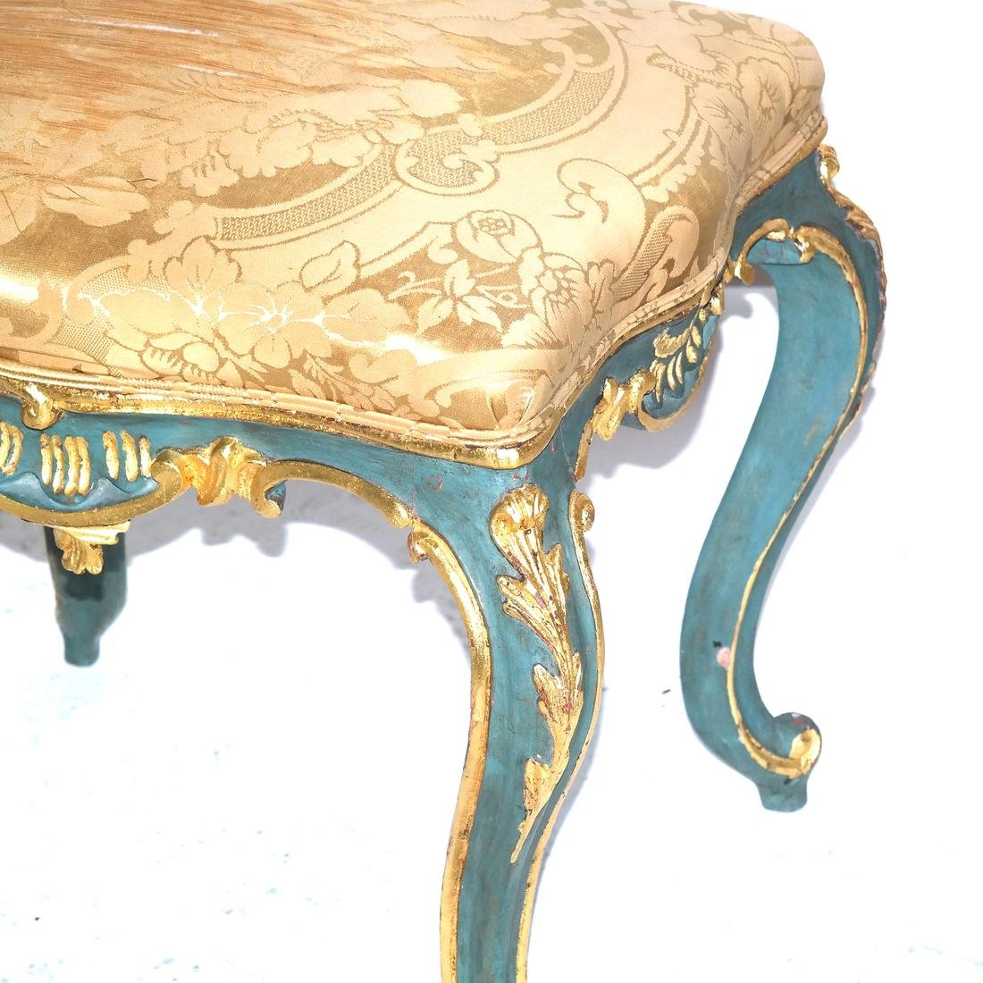 Pair of 19th C. Venetian-Style Decorated Benches - 2