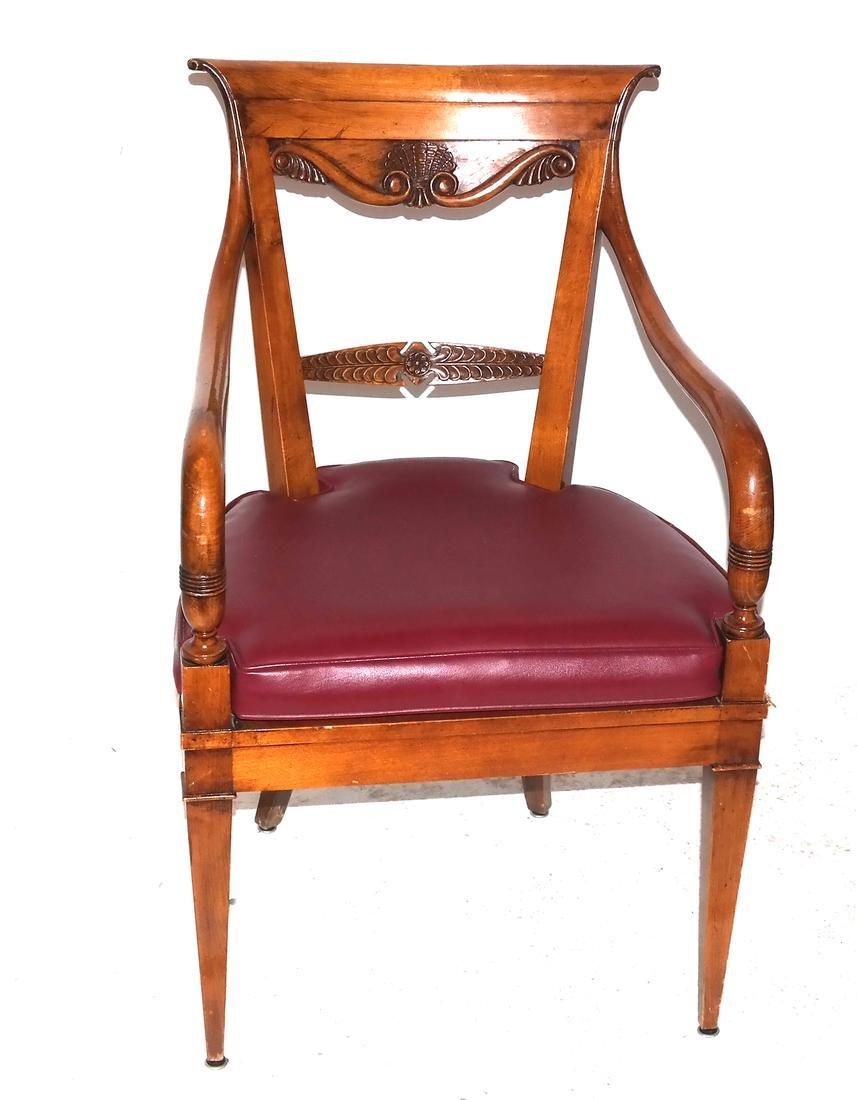 Biedermeier-Style Incised Armchair