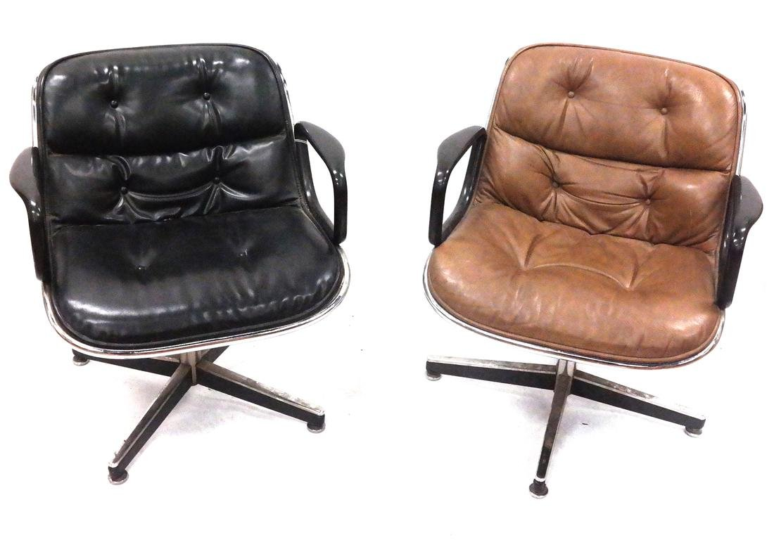 Two Knoll Swivel Chairs