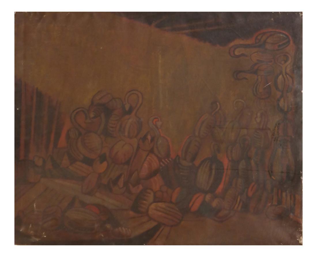 Oil on Canvas, Modernist Latin American Still Life