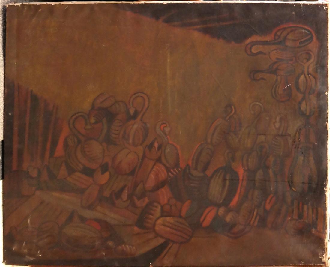 Oil on Canvas, Modernist Latin American Still Life - 2
