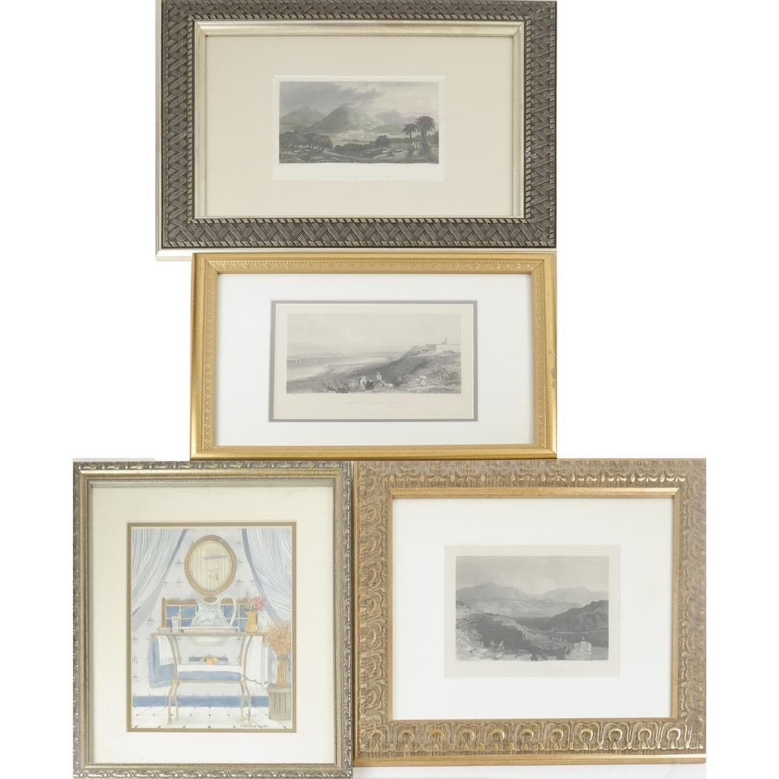 Four Works of Art - Lithograph Landscapes