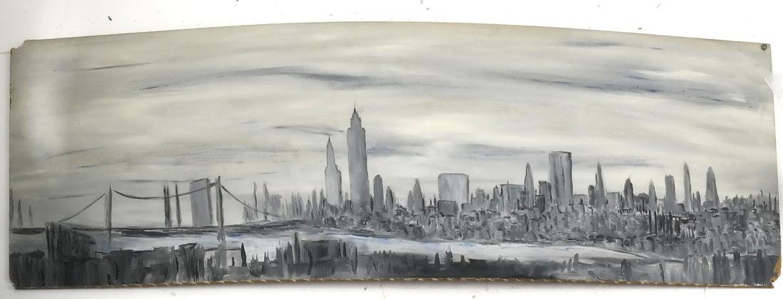 Oil on Board, NY Cityscape