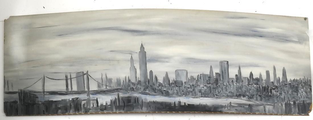 Oil on Board, NY Cityscape