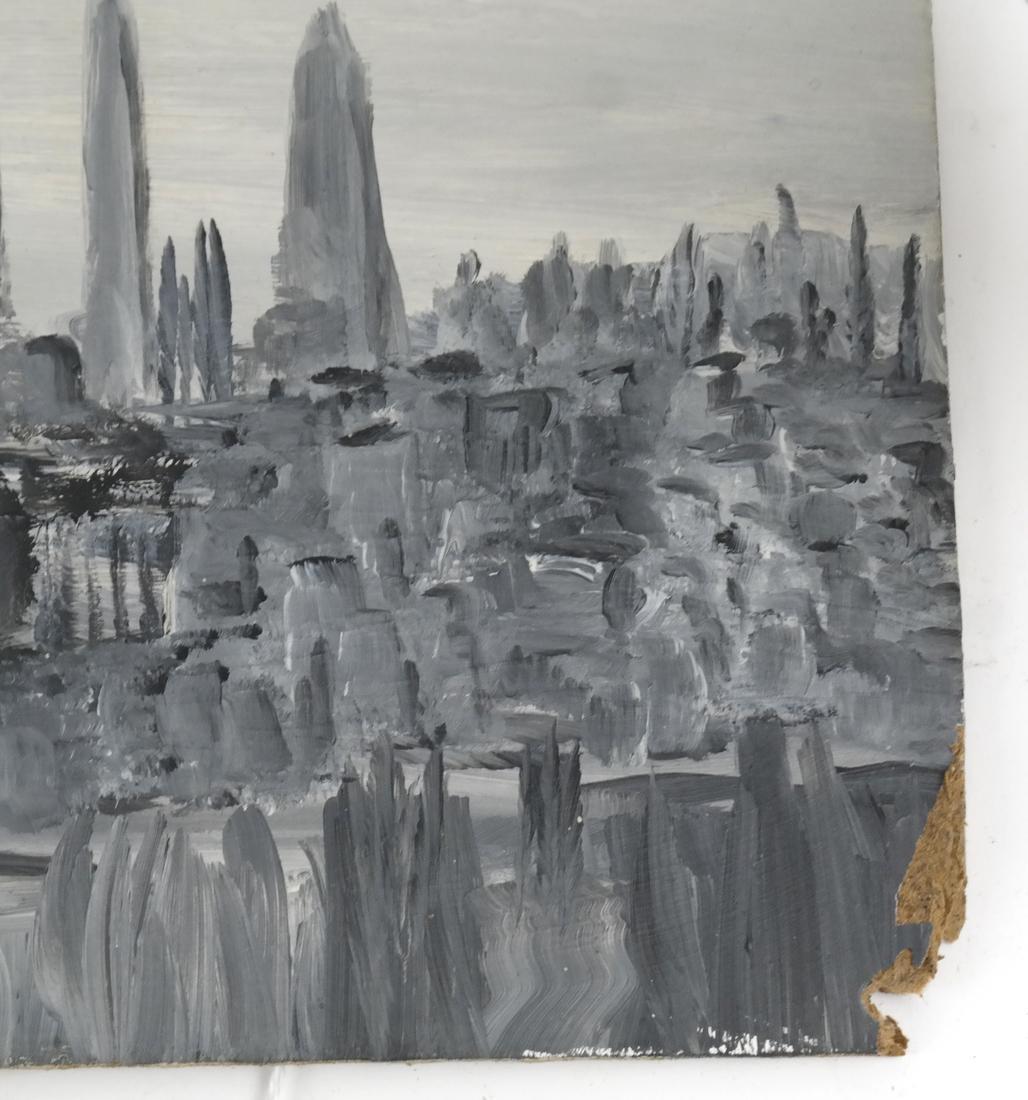 Oil on Board, NY Cityscape - 2