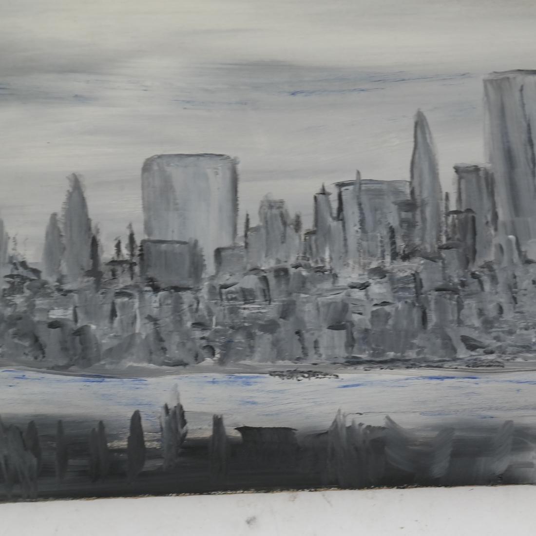 Oil on Board, NY Cityscape - 3