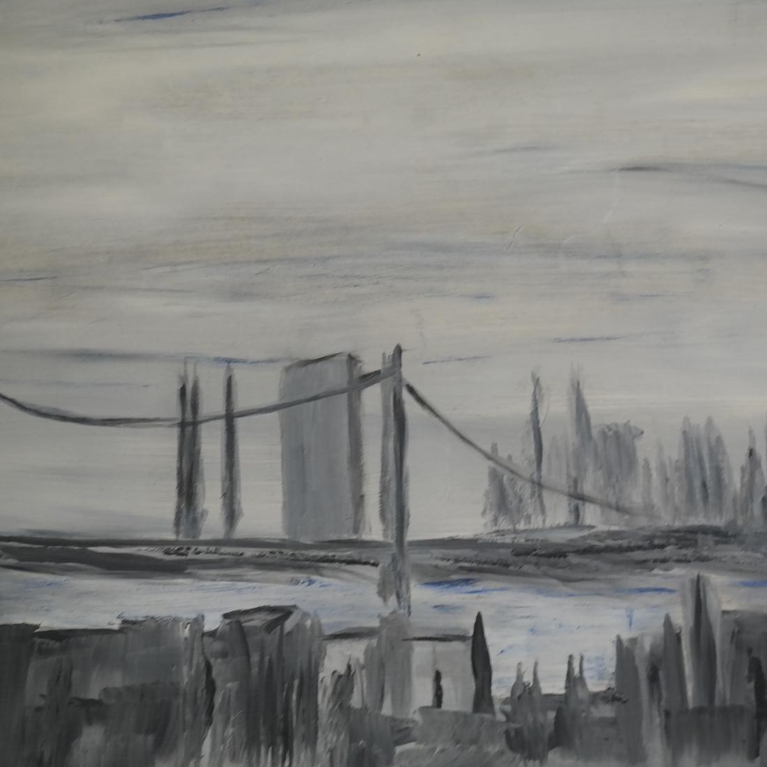 Oil on Board, NY Cityscape - 4