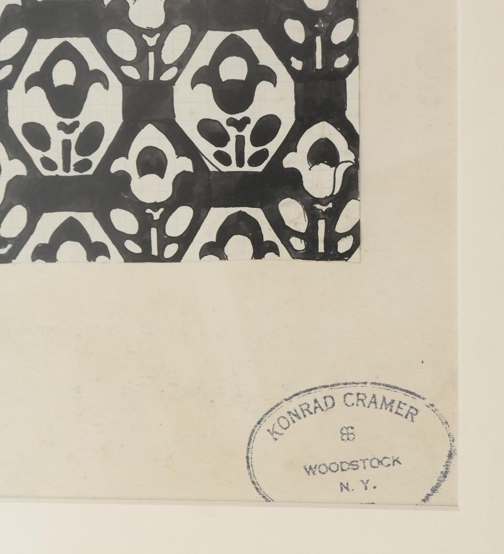 Konrad Cramer - Woman in Black and Red - Watercolor - 7