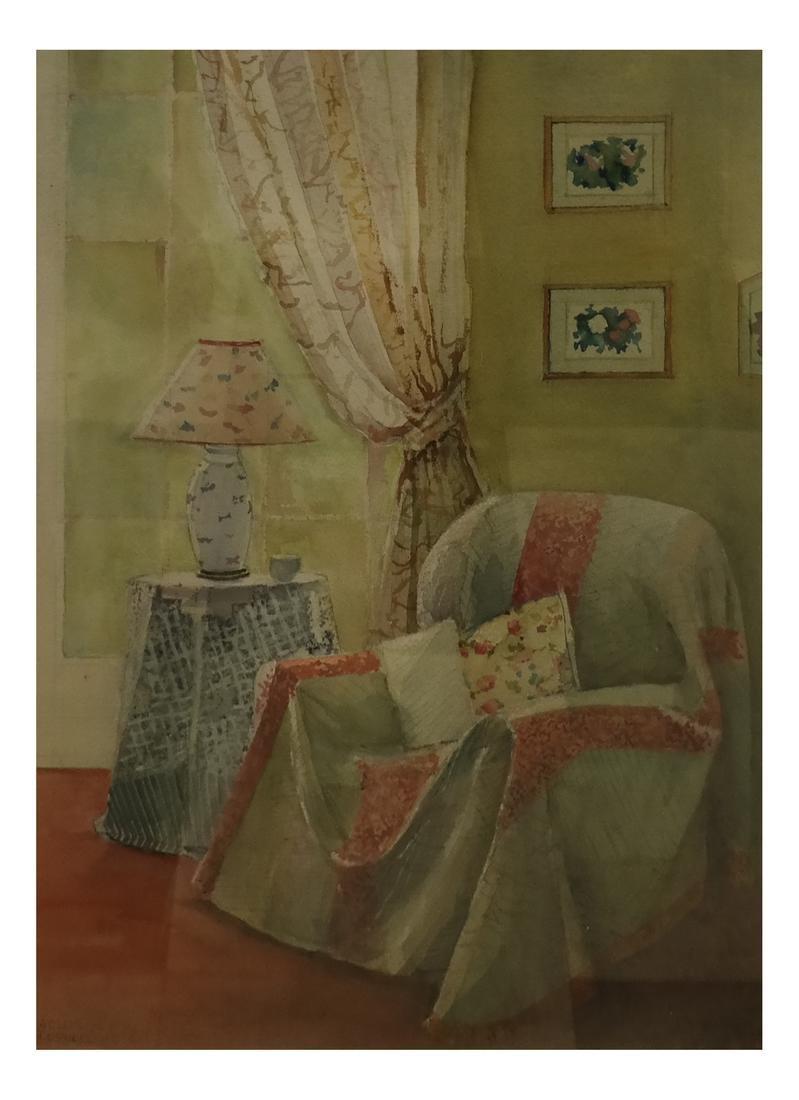 Arlene Cornell - NY Interior - Watercolor